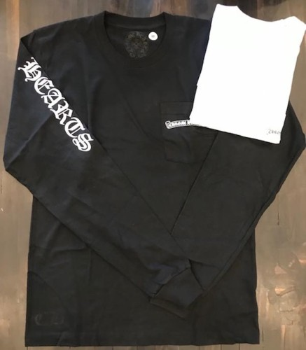 2020新作★【CHROME HEARTS クロムハーツ コピー Tシャツ】ロングスリーブTee 黒白