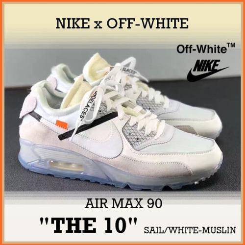 ナイキ オフ ホワイト スニーカー コピー 大人気★数量限定 ナイキ ランニングシューズ【OFF-WHITE X NIKE】AIR MAX 90 THE TEN