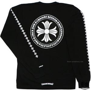 ◆早い者勝ち◆Chrome Hearts クロムハーツ ロングTシャツ 偽物 CHプラス ブラック