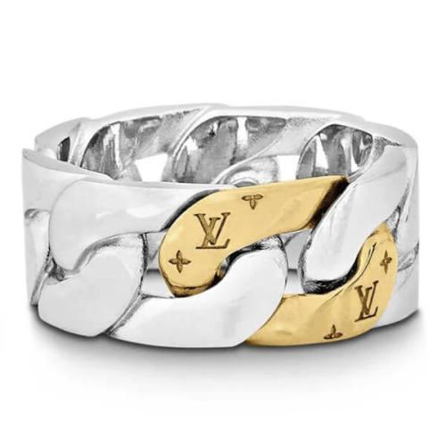 【ルイヴィトン】偽物バーグチェーンリンクスパッチーズ リング 指輪 M69715
