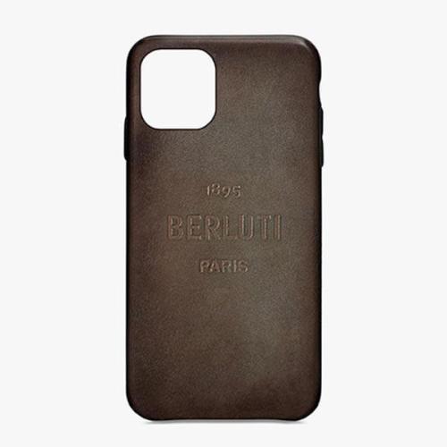 ベルルッティ iphoneケース コピー ロゴ入りレザーiPhone 11 Pro ケース