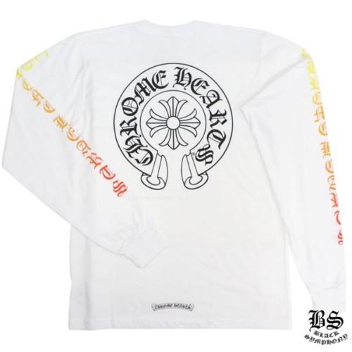 ◆早い者勝ち◆Chrome Hearts ククロムハーツ ロングTシャツ 偽物 ホースシューカラー