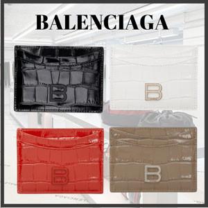 ギフトに♪【BALENCIAGA】スーパーコピークロコ Hourglass カード ケース 4色 202342F037270
