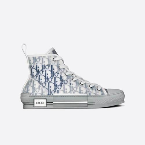 【Dior Homme】偽物20AW B23ネイビーハイトップスニーカー 3SH118YNT_H568