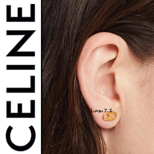 ◆CELINE(セリーヌ)◆ MAILLONS TRIOMPHE STUDS IN BRASS WITH GOLD FINISH イヤリング