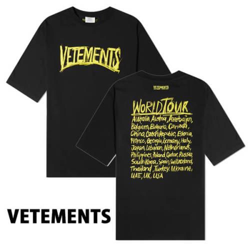 ヴェトモン tシャツ 偽物 VETEMENTS Tシャツ 日本未入荷 WORLD TOUR OVERSIZED
