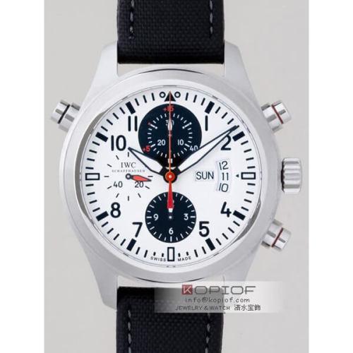 IWC パイロットウォッチ スーパーコピーIW371803 ダブルクロノグラフ2008DFBカップ限定 ホワイト/ブラック