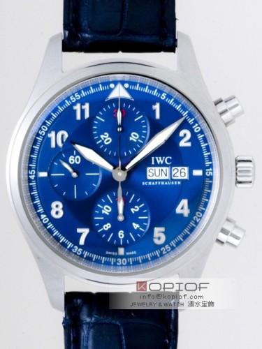 IWC パイロットウォッチ スーパーコピーIW371712 クロノ・オートマティック SS ローレウス ブルー