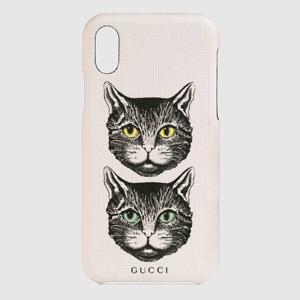 グッチ スマホケース コピー GUCCI グッチ 猫 iPhone X/XS Mystic Cat ケース