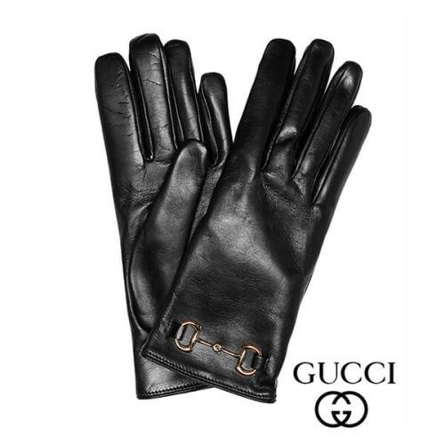 グッチ ホースビットモチーフ レザーグローブ 革手袋