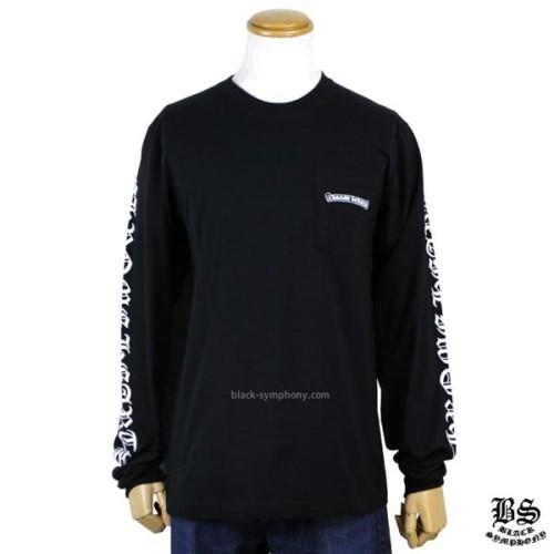 ◆早い者勝ち◆Chrome Hearts クロムハーツ ロングTシャツ 偽物 スクロールラベル ブラック
