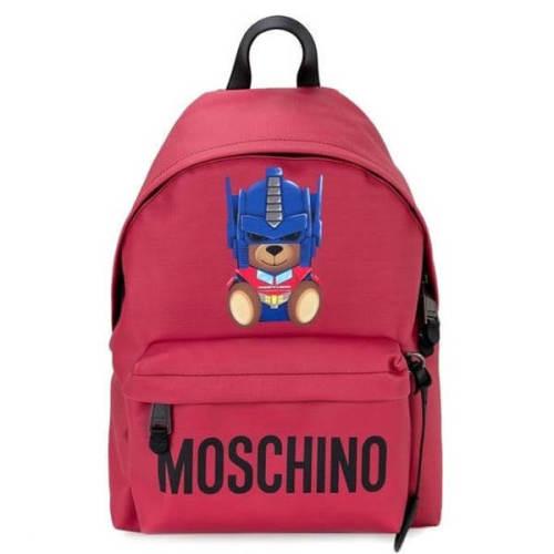 モスキーノ リュック コピー ベアバックパック ピンクレッドTransformer Teddy Backpack