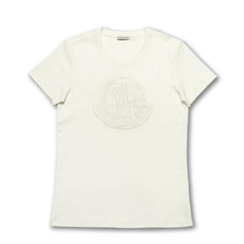 モンクレール MONCLER Tシャツ コピー レディース 8059200 8391N 035 半袖Tシャツ WHITE ホワイト