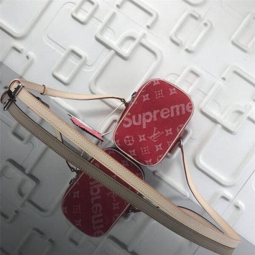 ルイ・ヴィトン Supreme Humble Reproduction デニム ショルダーバッグ ラグジュアリー 53434 レッド