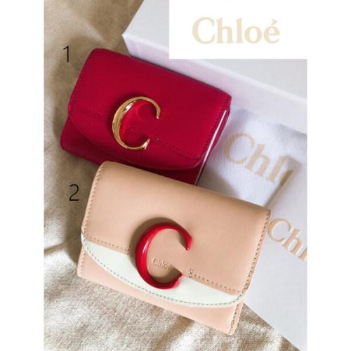 【アウトレット】クロエChloe クロエシー♪三つ折り財布♪偽物ミニ財布