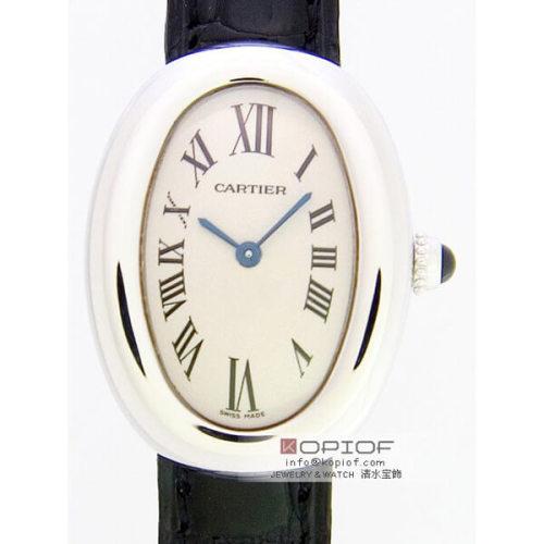 カルティエ ベニュワール スーパーコピーW1516856 WG 黒皮 ホワイト