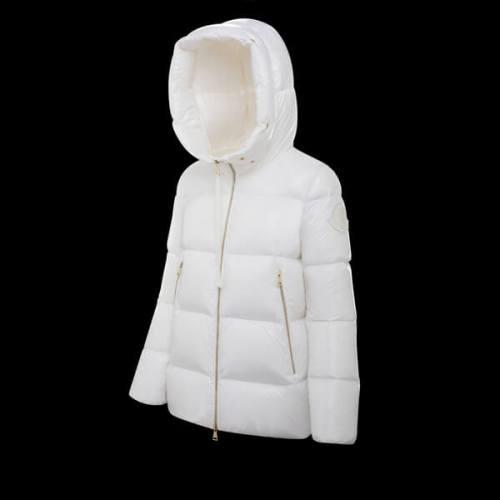 2020-21AW モンクレール偽物 GIVRE FOXファーダウンジャケット ホワイト