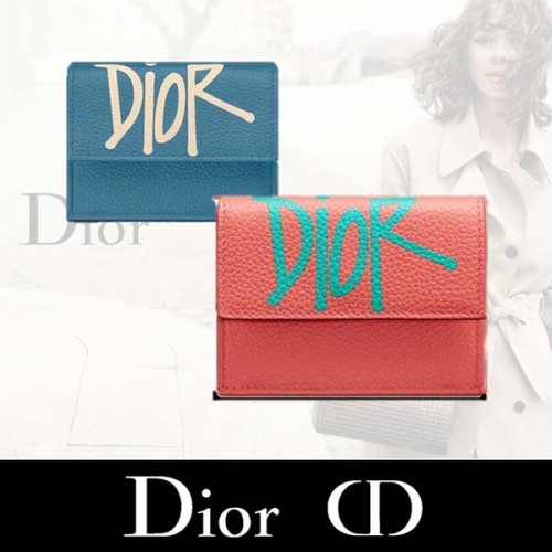 DIOR AND SHAWN ☆ 2021新作 折りたたみ 財布コピー 2PUBC110YZS