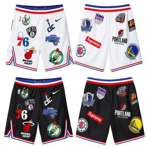 SS18スーパーコピー シュプリーム X Nike NBA Teams Authentic Short ハーフ・ショートパンツ ボトムス