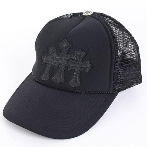 クロムハーツ 帽子 コピー メッシュキャップ 3 cemetery cross ブラック