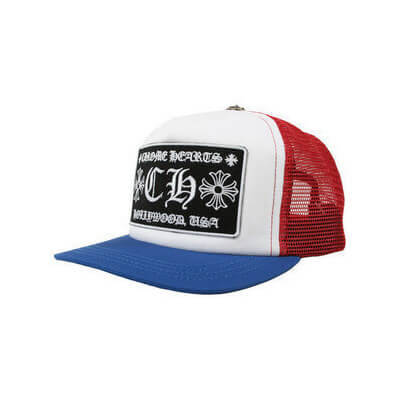 クロムハーツ 帽子 コピー メッシュキャップ CH TRUCKER CAP 青&赤