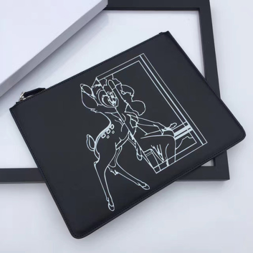 ジバンシィスーパーコピー GIVENCHY クラッチバッグ ブラック レザー バンビ BB05117012.052