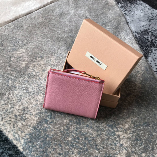 miumiu ラブレター 財布 コピー ハート付き マドラスレザー二折り財布 5ML023_2BC3