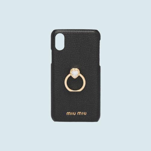 【MIUMIU ミュウミュウ iPhoneケース コピー】ハートクリスタル&リング☆IPHONE カバー*5ZH058