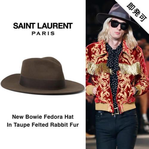 サンローラン 帽子コピー パリ ラビットファーフェドラハットトープ 442288 Y3NA2 1504