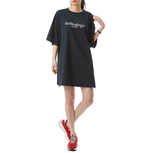 バレンシアガ tシャツ 偽物 EST 1917 OVERSIZE T-SHIRT 583214 TFV44 8502