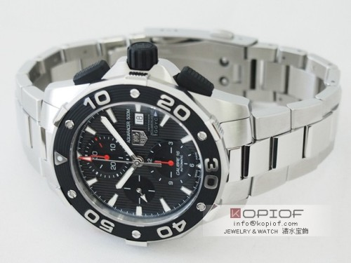 タグホイヤー アクアレーサー スーパーコピーCAJ2112.BA0872 クロノグラフ 500M アメリカスカップ ディフェンダーGGYC ブラック