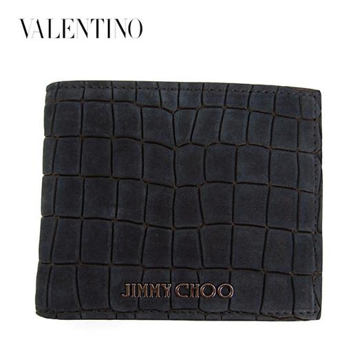 ジミーチュウ 財布 コピーMARK MBE クロコ柄二つ折り財布 BLACK/ブラック jc23