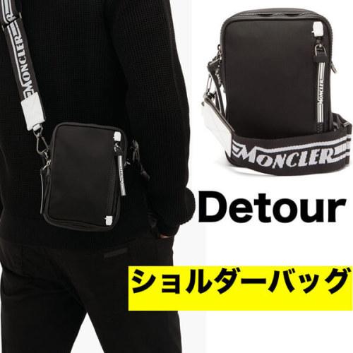 【モンクレール 】偽物2020春夏新作Detour ブラックショルダーバッグメンズラインのクロスボディバッグ