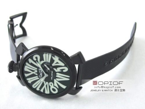 ガガミラノ スリム46MM スーパーコピークォーツ 5082.2 SS(PVD)ブレス ブラック/グリーンナンバー