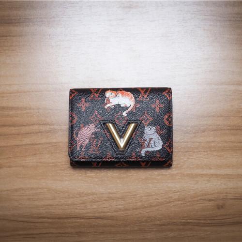 ルイヴィトン スーパーコピー マルチカラー ポルトフォイユ・ツイスト コンパクト 折り畳み財布 M63889 犬や猫