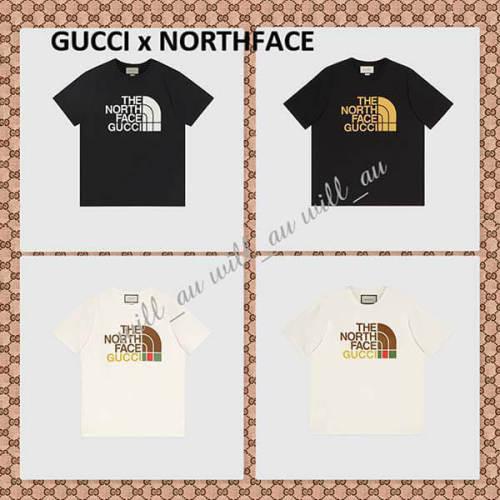 GUCCI x ザノースフェイス コラボ★Tシャツ コピー