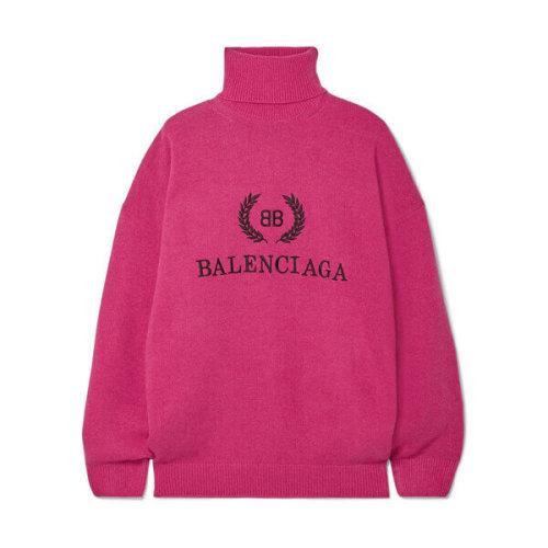 BALENCIAGA AW18/19 ウール&カシミヤ カシミヤ混ウール製 刺繍入りタートルネックセーター