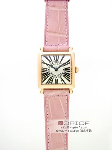 フランクミュラー マスタースクエア スーパーコピー6002SQ 5N 5N ピンク皮 シルバー