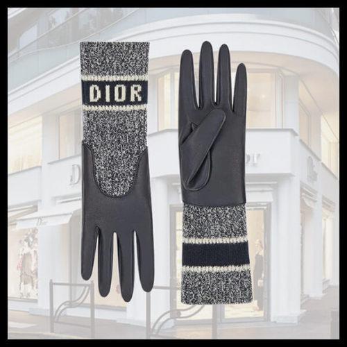 ☆新作☆ ディオール D-WHITE グローブ 手袋 05GLO750G500_C540