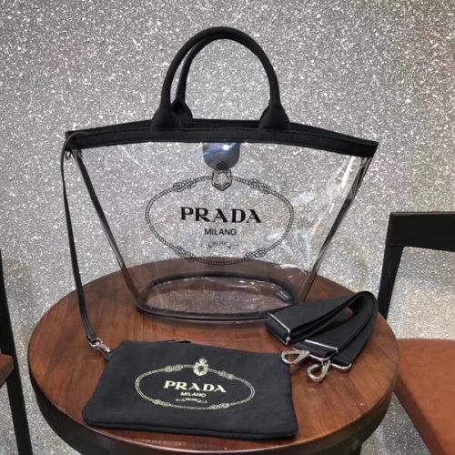 PRADA プラダ ショッピング トートバッグ スーパーコピー PVC 1BG1652BY5F0002