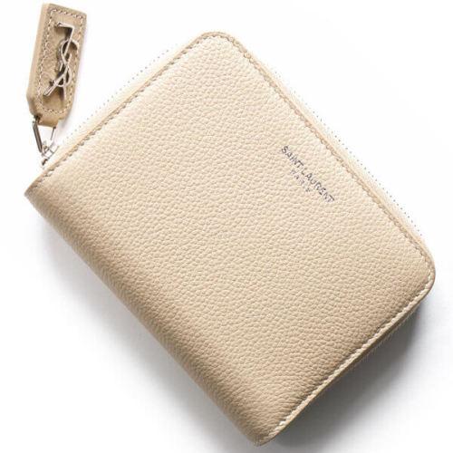 サンローラン 財布コピー ラウンド 414661 B68YN 9980 レディース2つ折り財布 YSLロゴをかみ合わせたサンローランを象徴するコンパクトウォレット
