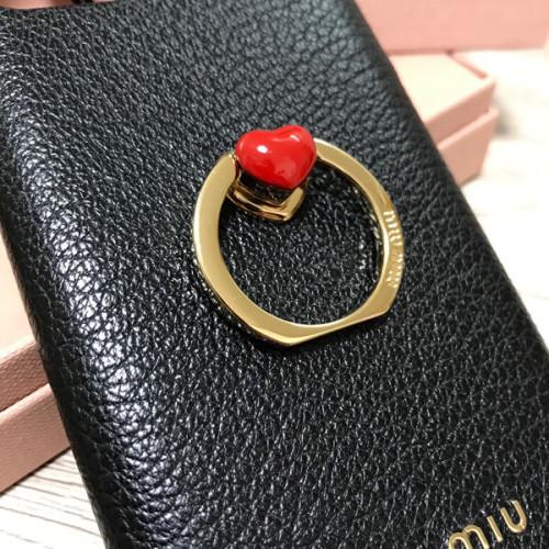 miumiu iphoneケース コピー iphone 11pro 11proMAX ケース リング付きで ハート ビジューがついたキュートなデザイン