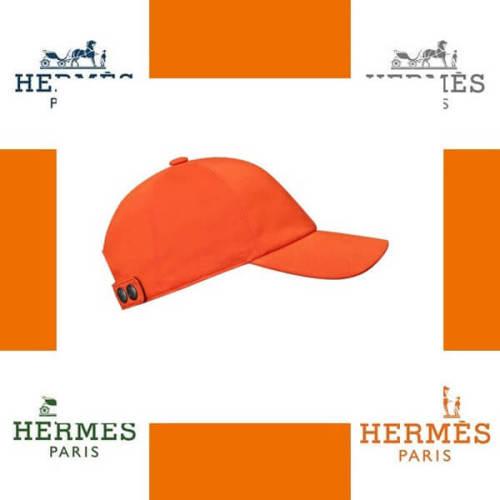 エルメス帽子コピー CAP ホースライディングキャップオレンジ H132064N