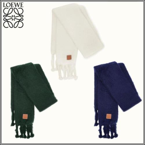 【LOEWE 】アナグラムロゴ モヘアウールスカーフ 偽物 大判 3色 0010477867