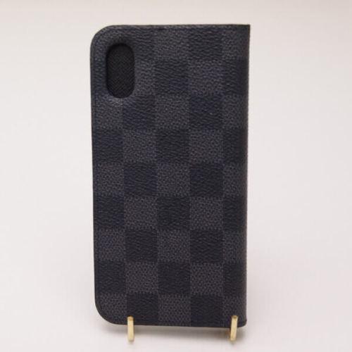 ルイヴィトン iPhone XS スマホケース コピー フォリオ ダミエグラフィット M63445