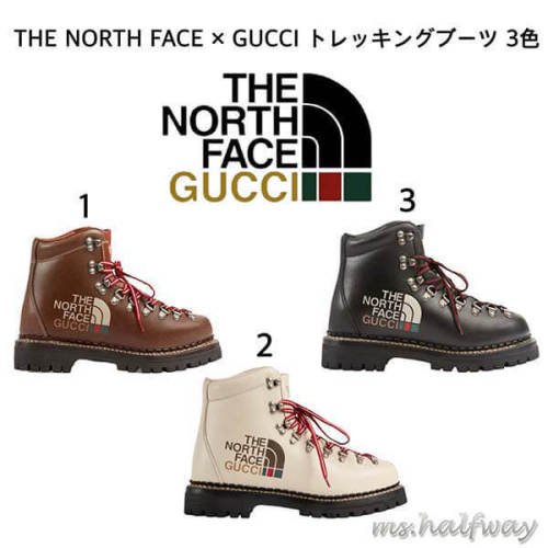 THE NORTH FACE × GUCCI トレッキングブーツ コピー 3色