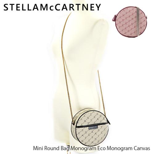 2020最新で争奪戦 STELLA MCCARTNEY ステラマッカートニー偽物 Mini Round Bag Monogram Eco Monogram Canvas