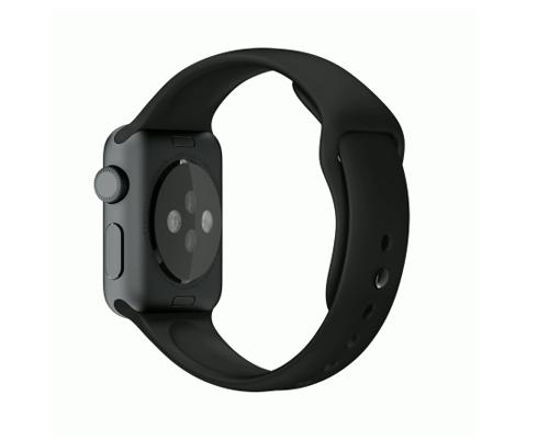Apple Watch スーパーコピー38/42mmスペースグレイアルミニウムケースとブラックスポーツバンド