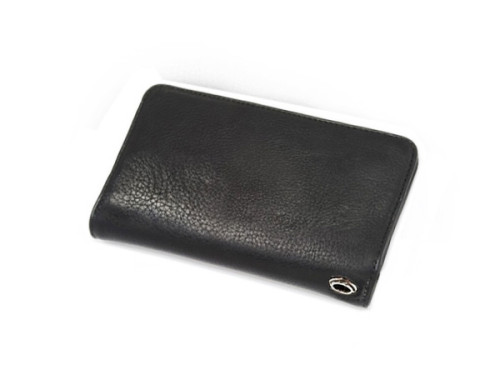 クロムハーツ 財布 コピー1ジップ クロスボタン ヘビーレザー ウォレット