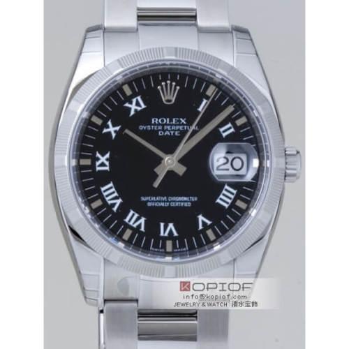ロレックス パーペチュアル デイト スーパーコピー115210 ブラックプリントローマ